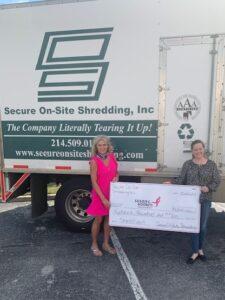 Susan G Komen Standing Outside Secure On-Site Shredding