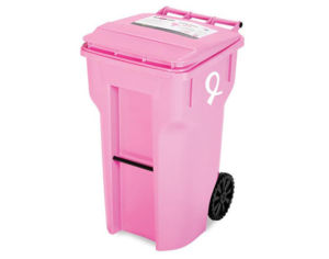 Pink Shredding Container by Secure On-Site Shredding